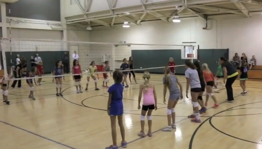 Teaching The Volleyball Hitting Approach With Hand Claps