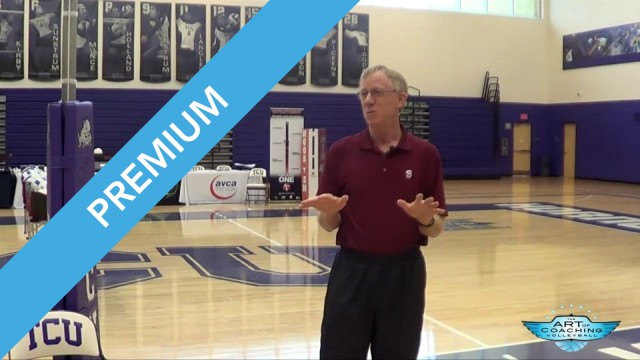 John Dunning Discussing Technology in Volleyball