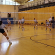 Volleyball team drill