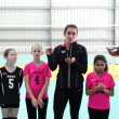 Youth volleyball drill