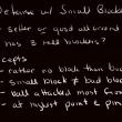 Small blocker strategy