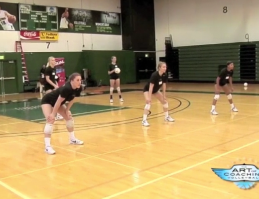 Serve and pass drill