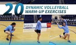 20 dynamic exercises for volleyball warmups and stretches