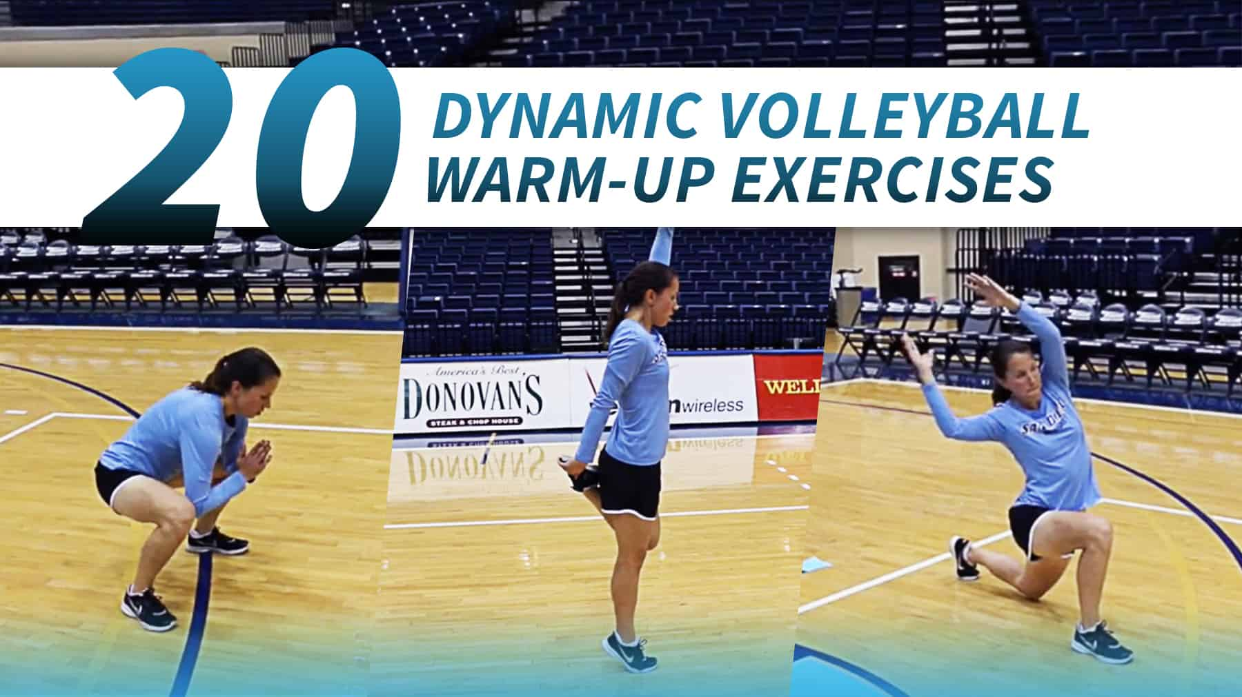 20 dynamic volleyball warmup exercises with Marie Zidek