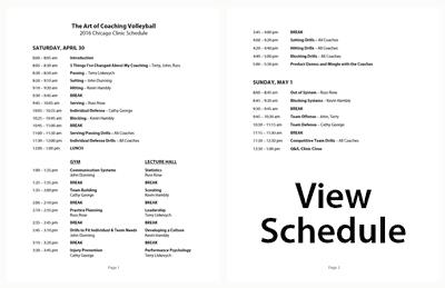 2017 Kansas City Clinic Schedule