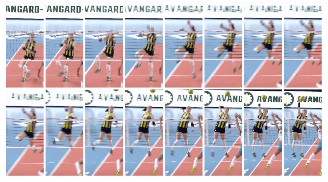 Eda Erdem Dündar of Turkey - Slide Knee Drive Analysis - Front View