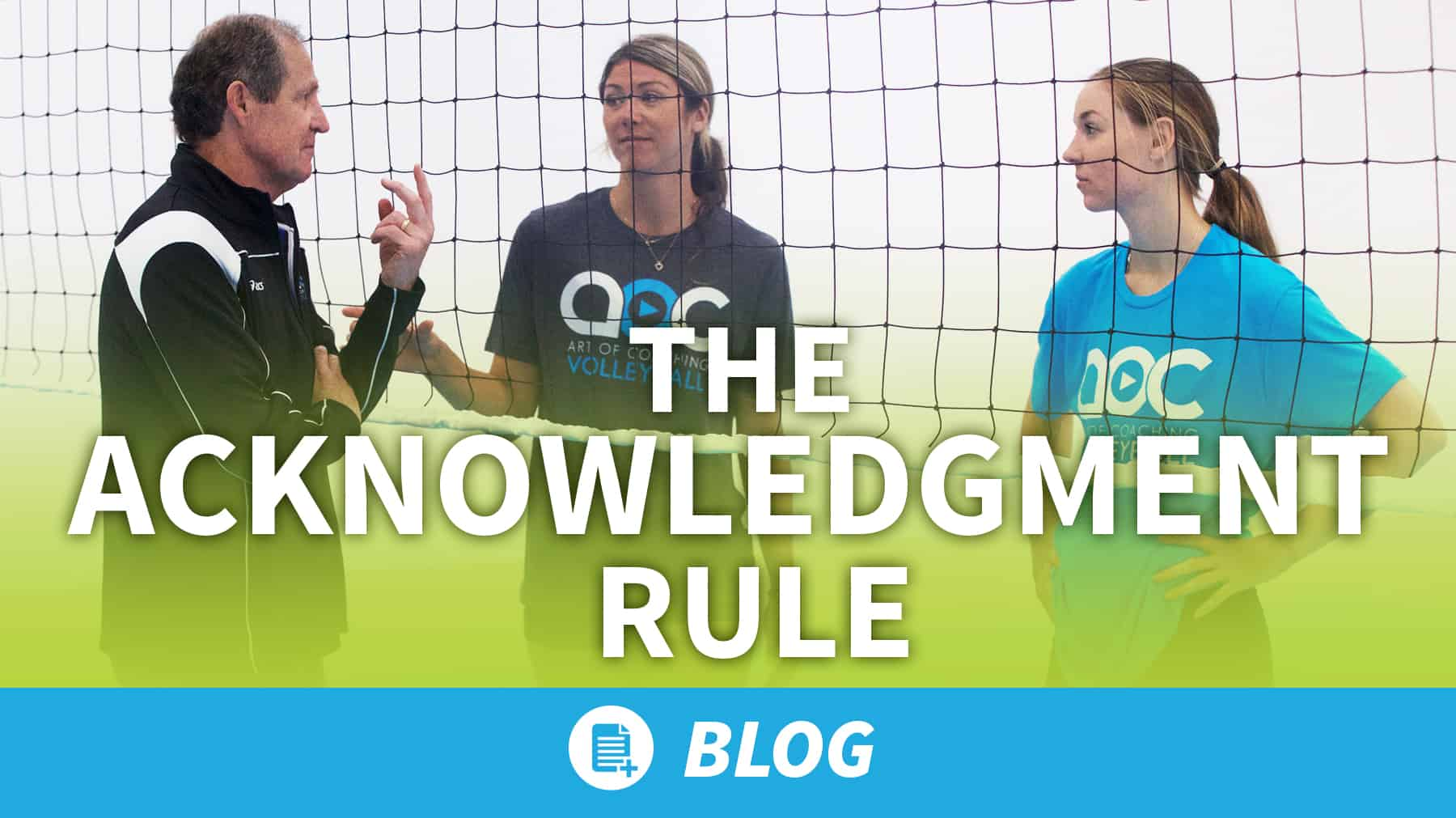 The Acknowledgement Rule – essential for all volleyball teams