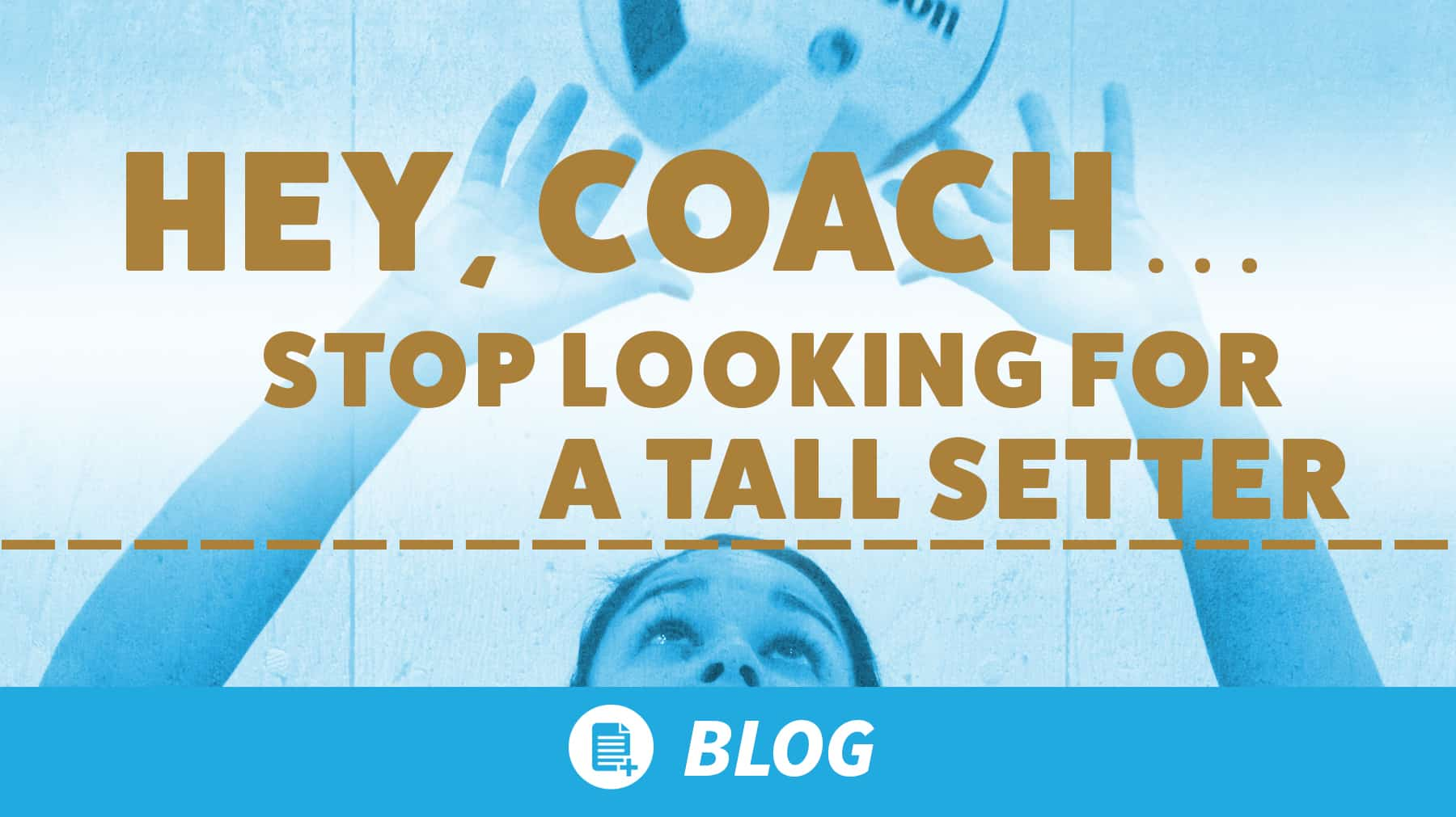 Hey, coach… stop looking for a tall setter