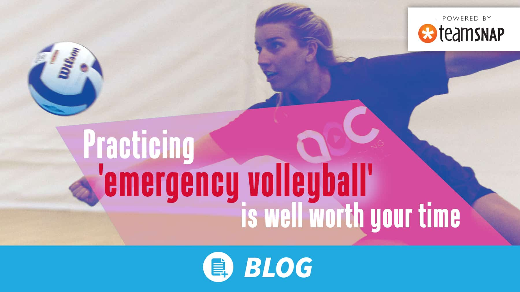 Practicing 'emergency volleyball' is well worth your time