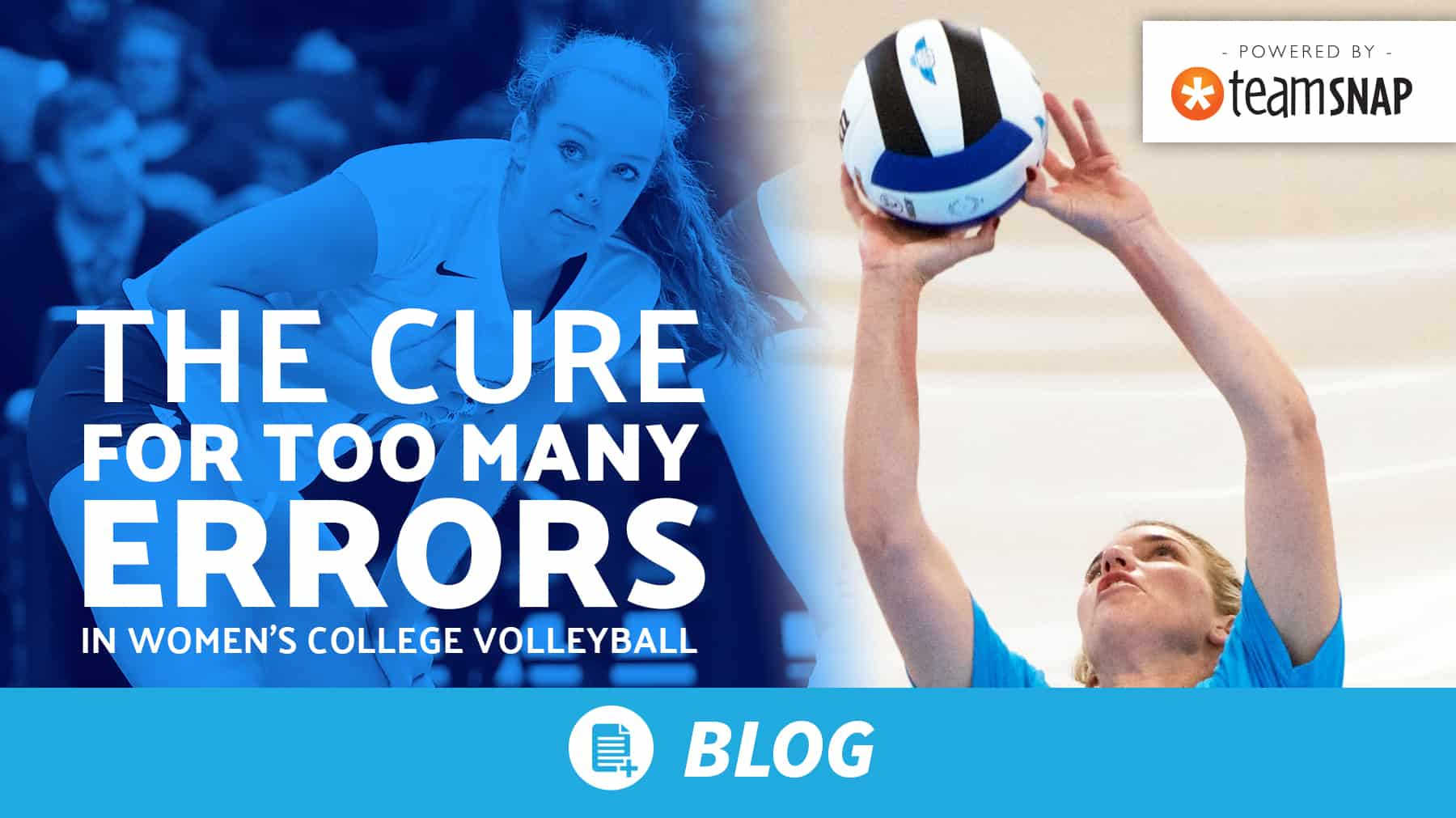 The cure for too many errors in women's college volleyball