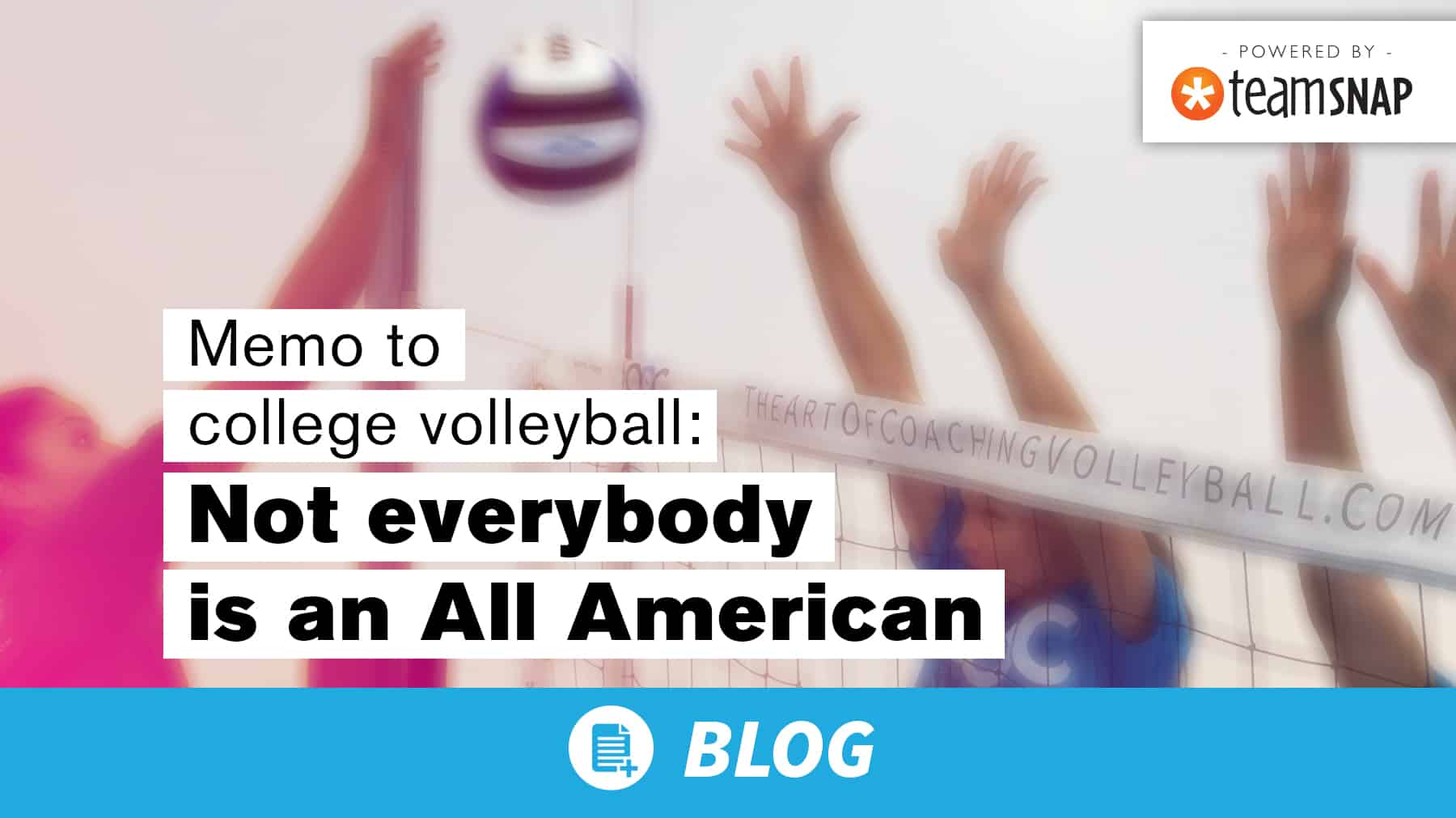 Memo to college volleyball: Not everybody is an All American