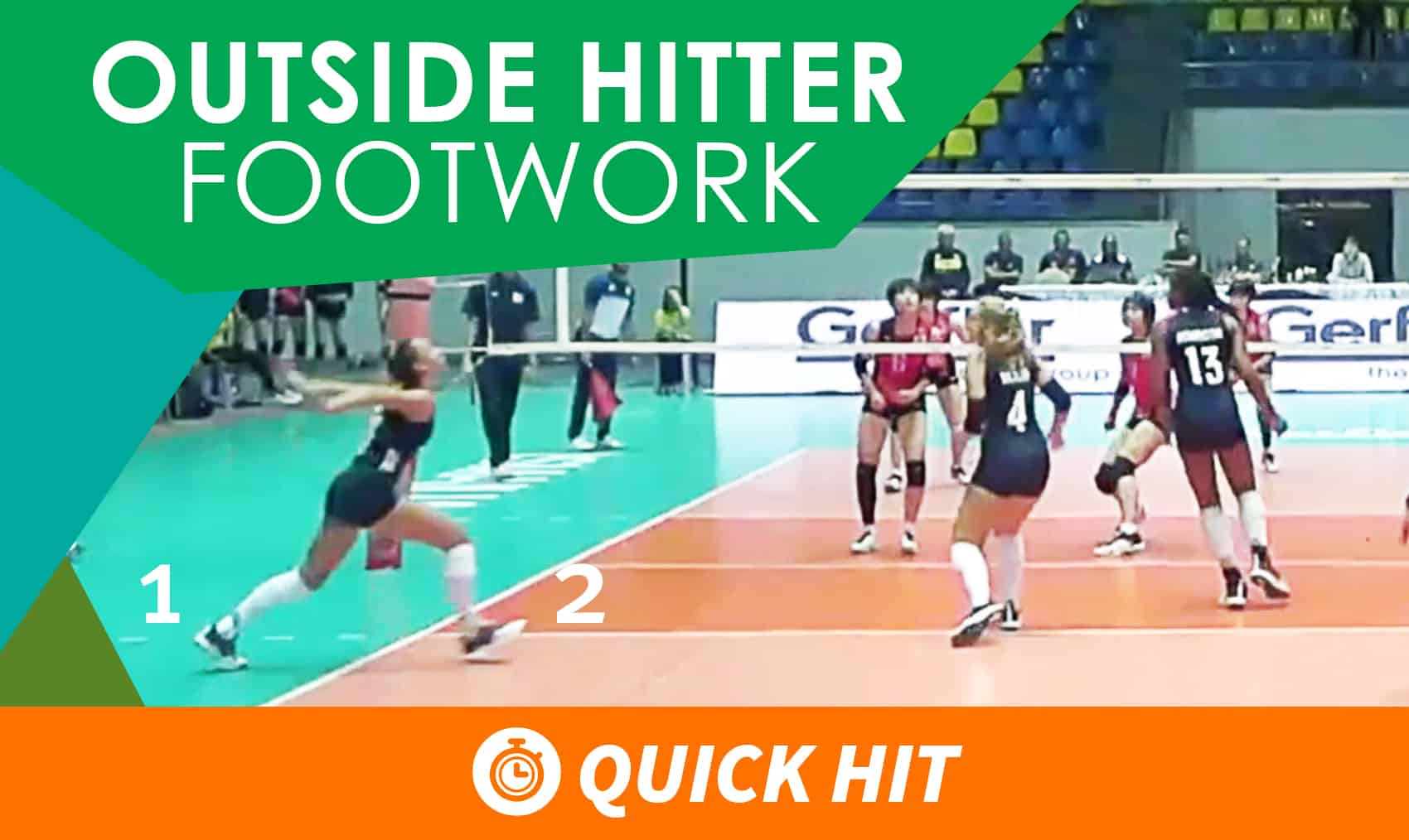 Outside Hitter Transition Footwork