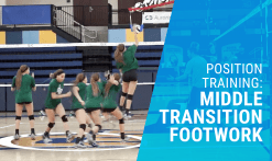 Middle transition footwork