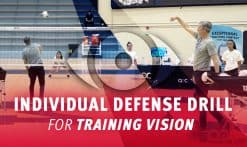 Individual defense drill for training vision