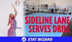 Sideline lane serves drill