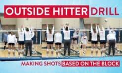 Outside hitter shots