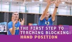 teaching blocking: Hand position